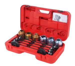Набор инструментов для демонтажа сайлентблоков универсальный 11 предметов (кейс) JTC-4091