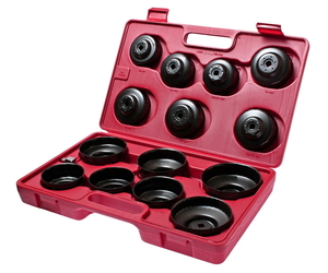 Съемник фильтров масляных в кейсе 14 предметов чашка JTC-JW0001